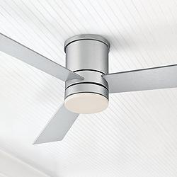 "52"" Modern Forms Axis Silver Hugger Wet LED Ceiling Fan"