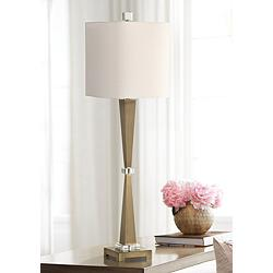 Uttermost Niccolai Plated Brushed Brass Buffet Table Lamp