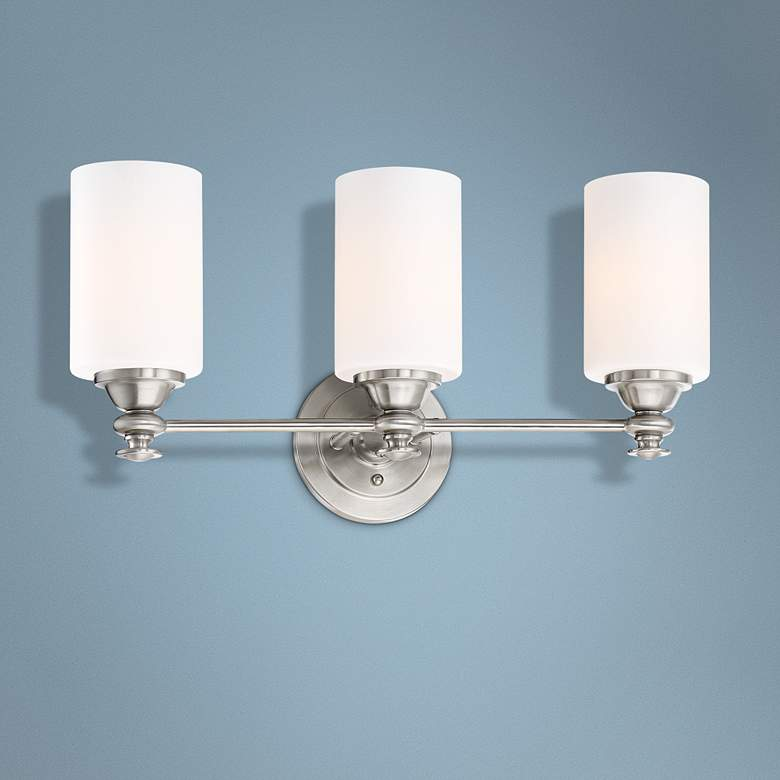 "Dardyn 21 1/2""W Brushed Polished Nickel 3-Light Bath"