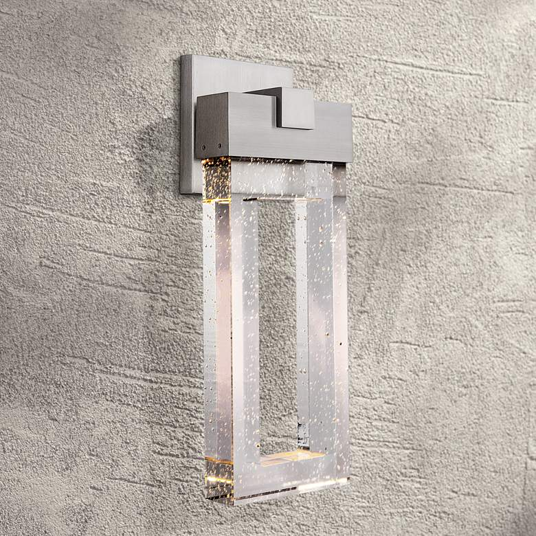 "Cantrell 20 3/4"" High Satin Aluminum LED Outdoor Wall Light"