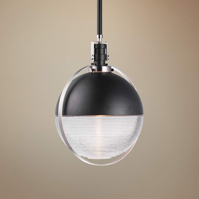 "Maxim Axiom 13 3/4"" Wide Black and Nickel LED Pendant Light"