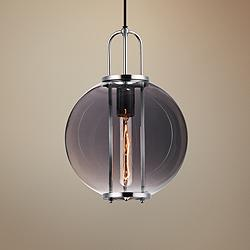 "Maxim Minaret 10 1/2"" Wide Polished Nickel Mini Pendant"
