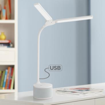 OttLite Adjustable LED Desk Lamp with Bluetooth and USB