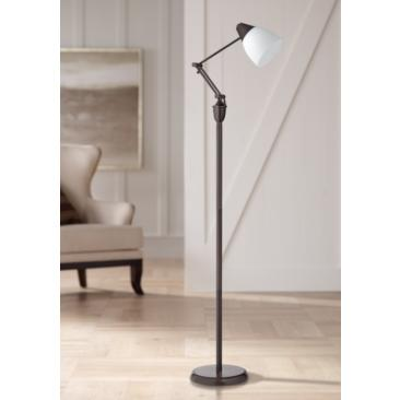 OttLite Webster Oil-Rubbed Bronze Adjustable Task Floor Lamp