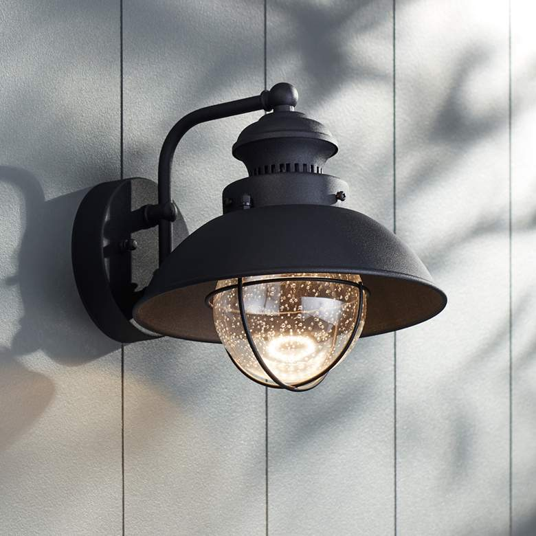 "Fordham 8"" High Black LED Outdoor Wall Light"