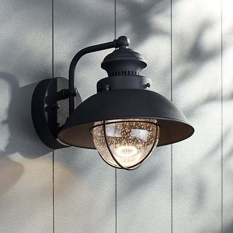 Fordham 8 high black led outdoor wall light 5c013 lamps plus fordham 8 high black led outdoor wall light aloadofball Images