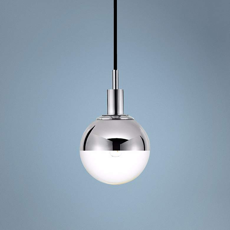 "Sonneman Orb 5 1/2"" Wide Chrome Mini Pendant"