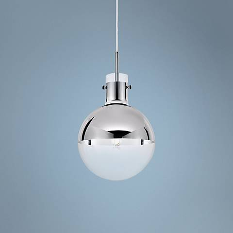 "Sonneman Apollo 10"" Wide Polished Chrome Mini Pendant"