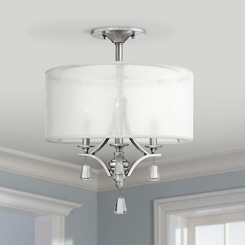 "Fredrick Ramond Mime 17 1/2"" Wide Nickel Ceiling"