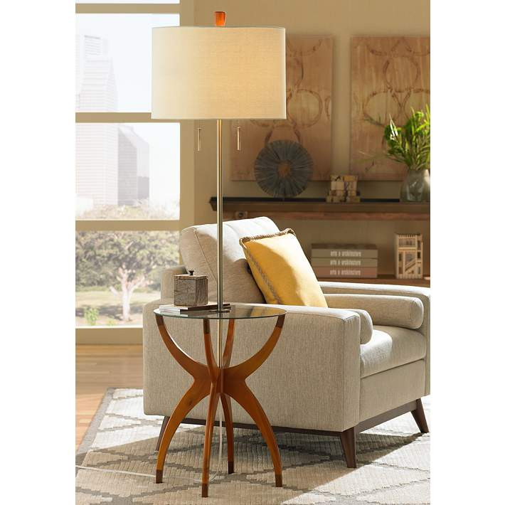 Vanguard Floor Lamp With Gl Tray