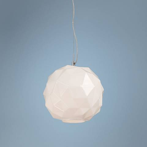 "Eurofase Studio 11 3/4""W White Chiseled Glass Mini Pendant"