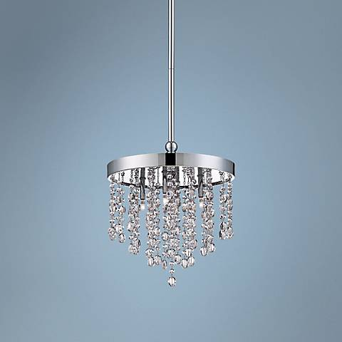 "Eurofase Opa 10 1/4"" Wide Round Chrome Mini Pendant"