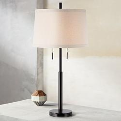Possini Euro Design Matte Dark Bronze Stick Table Lamp