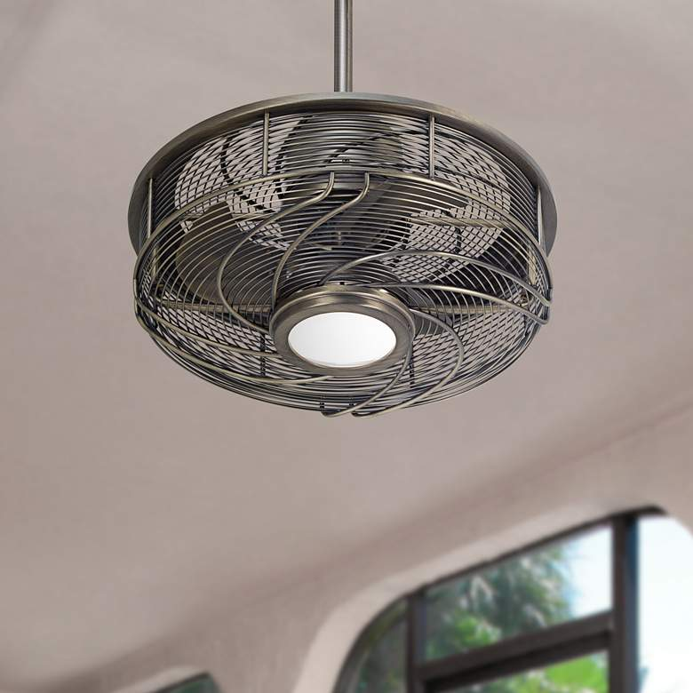"17"" Casa Vestige™ Antique Bronze Cage LED Ceiling"