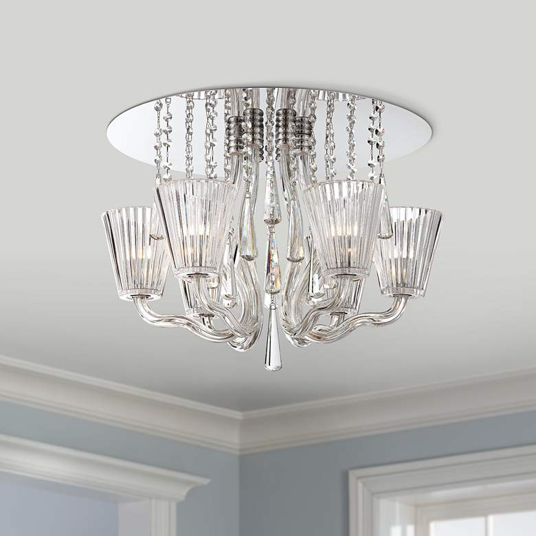 "Corato Collection 21 1/4"" Wide Clear Crystal Ceiling"
