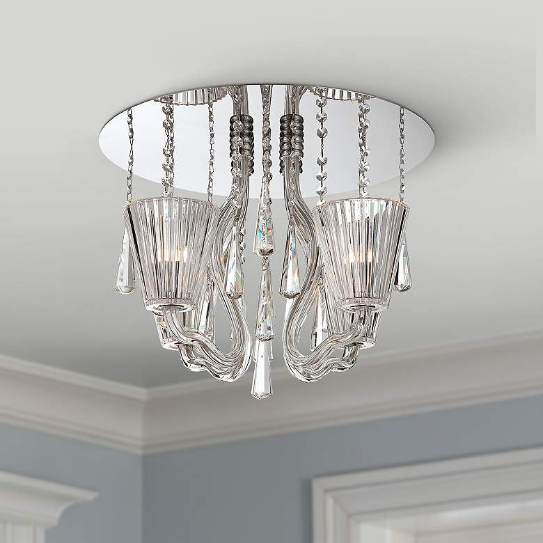 "Corato Collection 17 3/4"" Wide Clear Crystal Ceiling"
