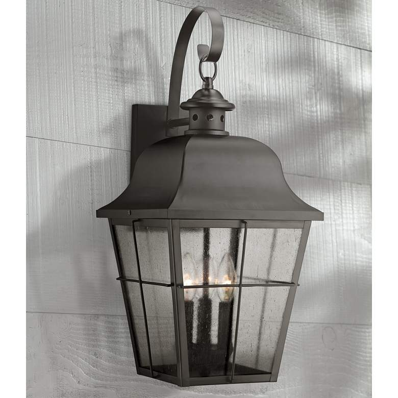 "Quoizel Millhouse 22"" High Black Outdoor Wall Light"