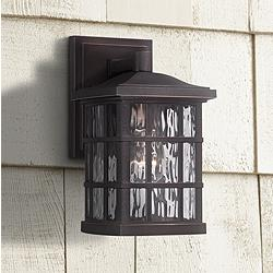"Quoizel Stonington 10 1/2"" High Bronze Outdoor Wall Light"
