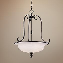 "Harmon Collection Espresso 21 1/4"" Wide Chandelier"