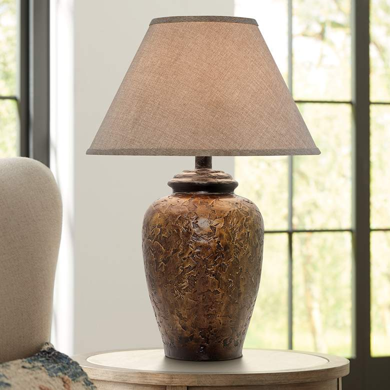 Belville Antique Walnut Urn Table Lamp 5g102 Lamps Plus