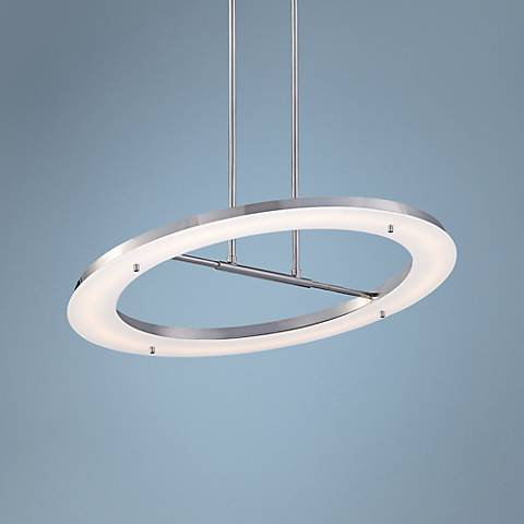 "George Kovacs Twist and Shout 25"" Wide Chrome LED Pendant"