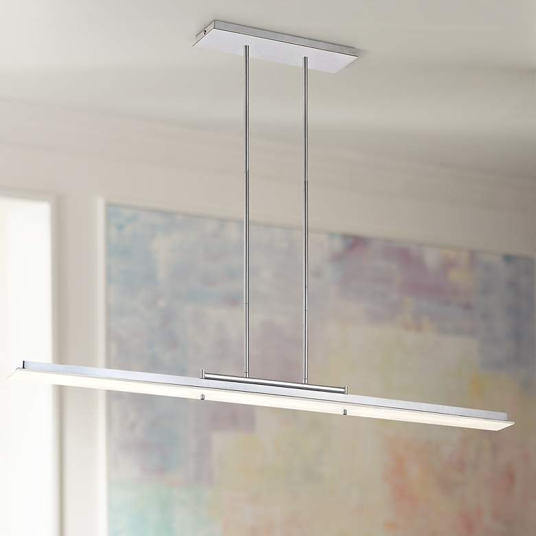 Twist and Shout Chrome LED Kitchen Island Light Pendant