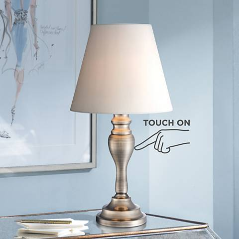 "Thom 19 1/4""H Brass Finish Touch On-Off Accent Table Lamp"