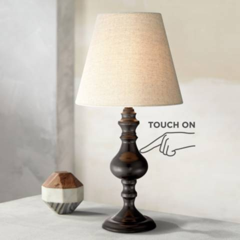 Ted Dark Bronze 18 1 2 Quot High Touch On Off Accent Table
