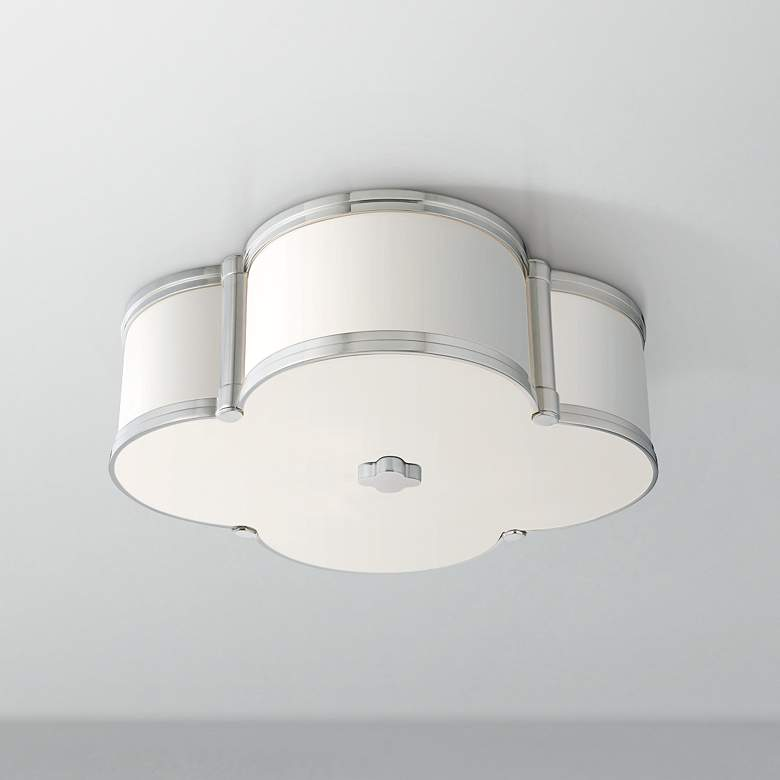 "Hudson Valley Chandler 16 3/4"" Wide Nickel Ceiling Light"