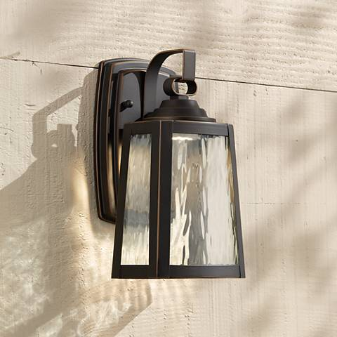 "Minka Talera 10 3/4"" High LED Bronze Outdoor Wall Light"