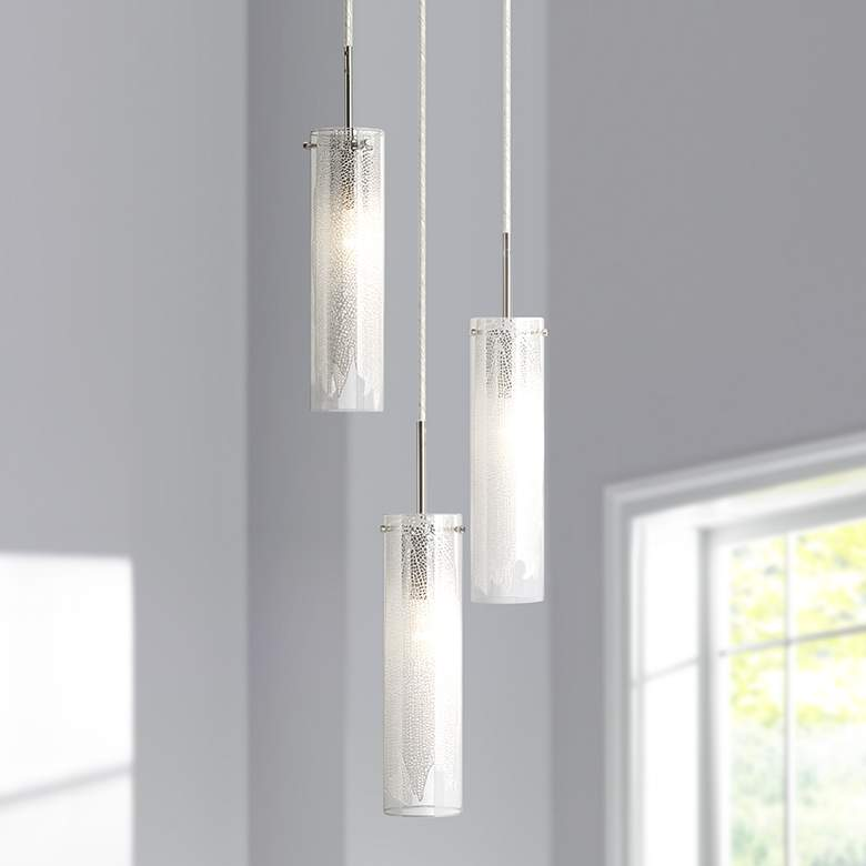 "Elan Krysalis 11"" Wide Chrome Multi Light Pendant"