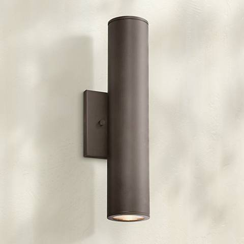 "Minka Skyline LED 14 1/2"" High Bronze Outdoor Wall Light"