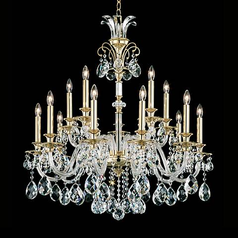 "Schonbek Rivington 29"" Wide Gold Crystal Chandelier"