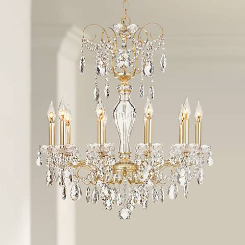 Schonbek sonatina 25 12 wide gold crystal chandelier 5m132 schonbek sonatina 25 12 wide gold crystal chandelier aloadofball Image collections