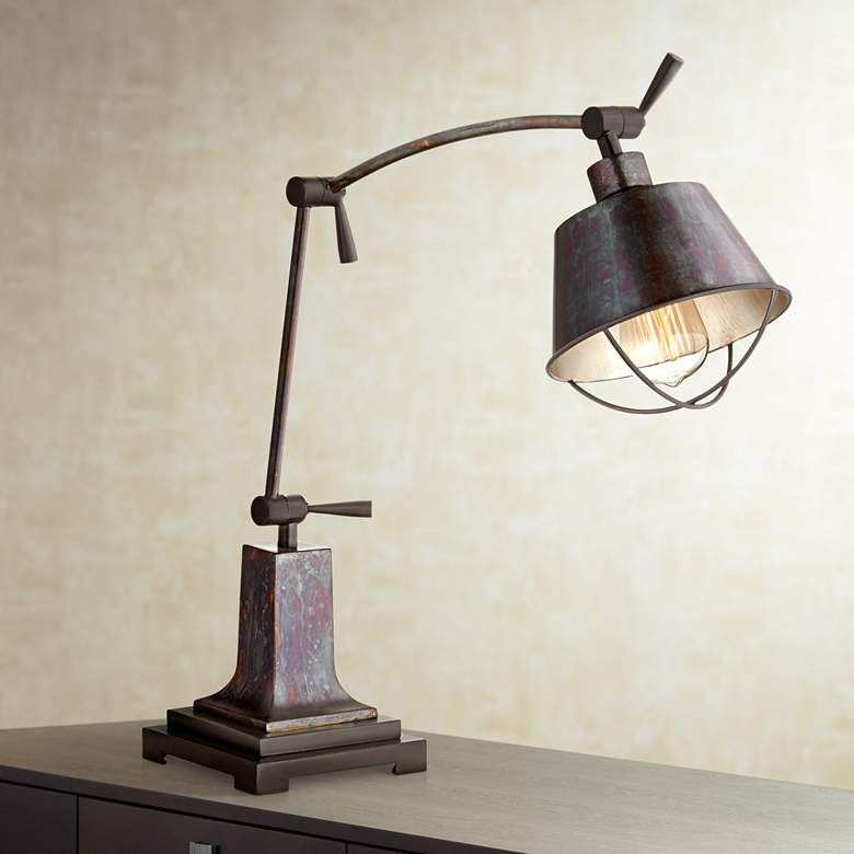 Henry Adjustable Arm Farmhouse Desk Lamp by Uttermost