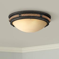 "Pike Place 21"" Wide Shipyard Rope Ceiling Light"
