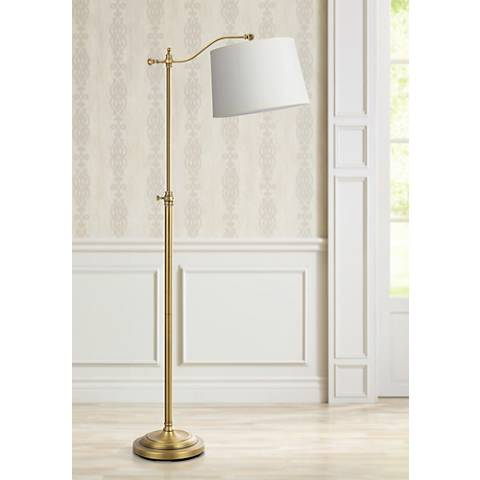 Wilmington antique brass downbridge floor lamp 5n902 lamps plus wilmington antique brass downbridge floor lamp aloadofball Images