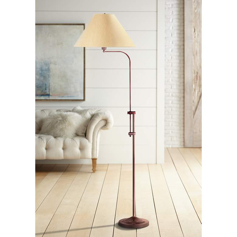 Hartwick Rust Pharmacy Floor Lamp by Cal Lighting