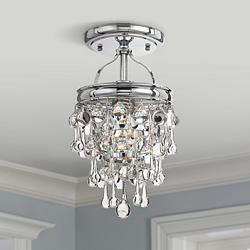 "Crystorama Calypso 7 1/2"" Wide Chrome Ceiling Light"
