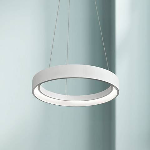 "Elan Fornello 17 3/4"" Wide Dimmable LED White Pendant Light"