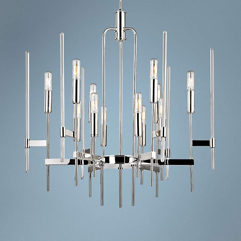 "Hudson Valley Bari 24"" Wide Polished Nickel Chandelier"