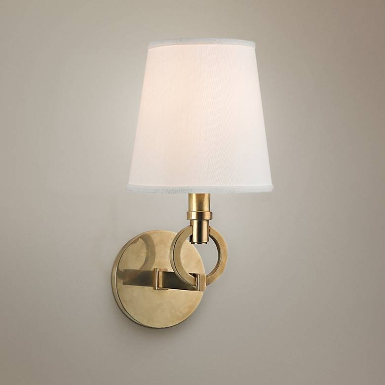 "Hudson Valley Malibu 12 1/2"" High Aged Brass Wall Sconce"