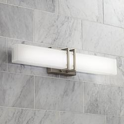 "Possini Euro Exeter 24""W Nickel LED Bathroom Vanity Light"