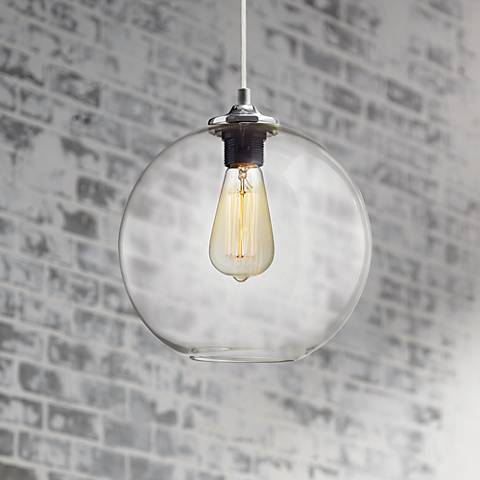 "Tarryton 9 3/4"" Wide Industrial Chrome Mini-Pendant"
