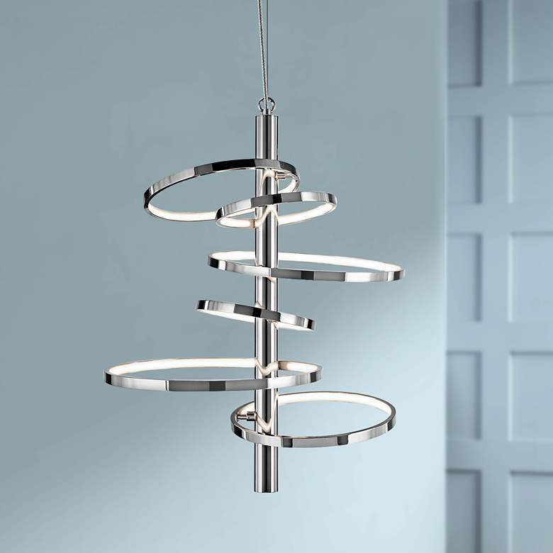 "Elan Sirkus 20 1/4"" Wide Dimmable LED Chrome"