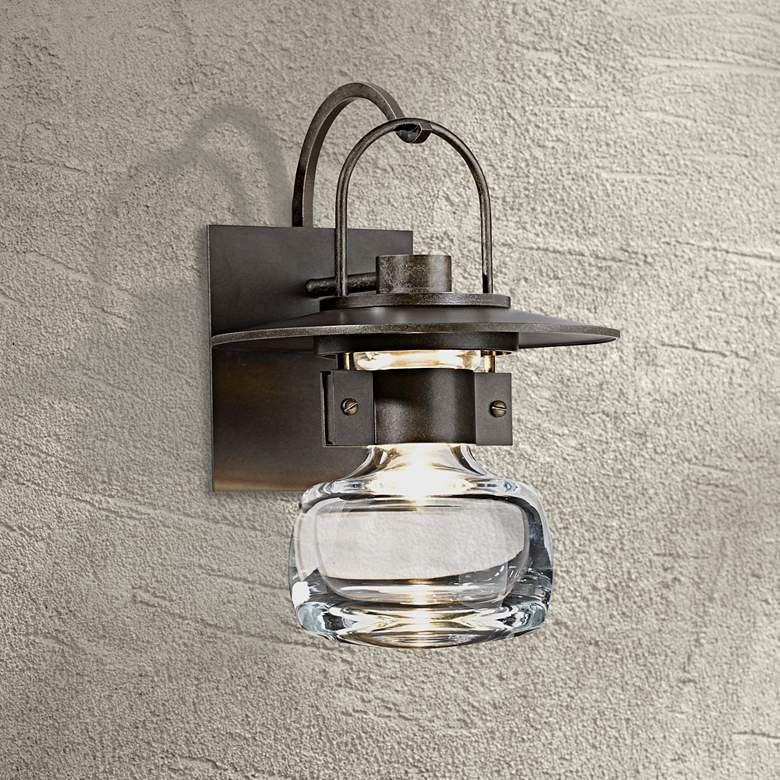"Hubbardton Forge Mason 11"" High Bronze Outdoor Wall"