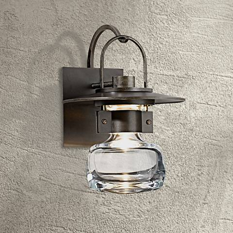 "Hubbardton Forge Mason 11"" High Bronze Outdoor Wall Light"