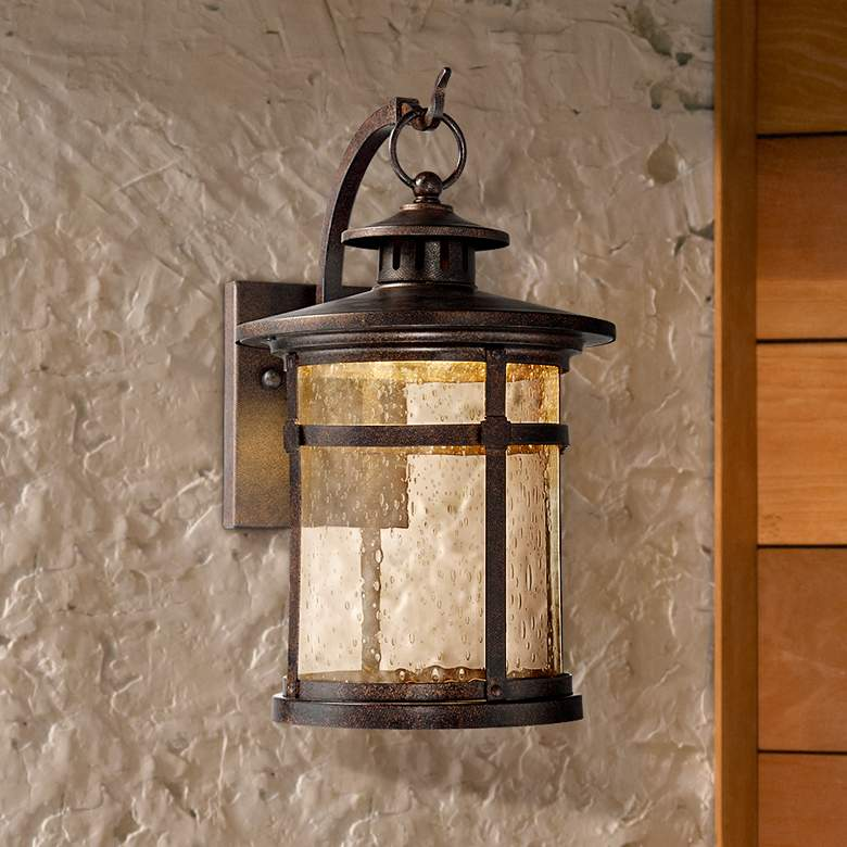 "Callaway 11 1/2"" High Rustic Bronze LED Outdoor Wall Light"