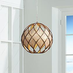 "Varaluz Argyle 20"" Wide New Bronze Pendant Light"