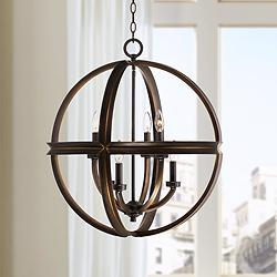 "Millington 23 1/2"" Wide Bronze Pendant Light"